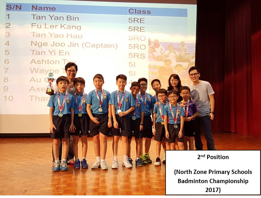 2nd Position - North Zone Primary Schools Badminton Championship 2017