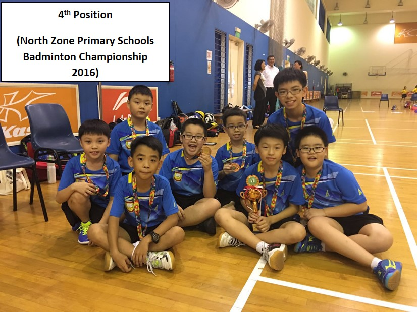4th Position - North Zone Primary Schools Badminton Championship 2016