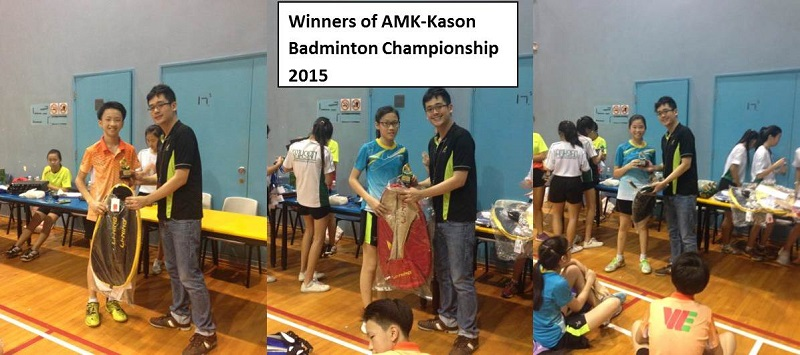 Winners of AMK-Kason Badminton Championship 2015