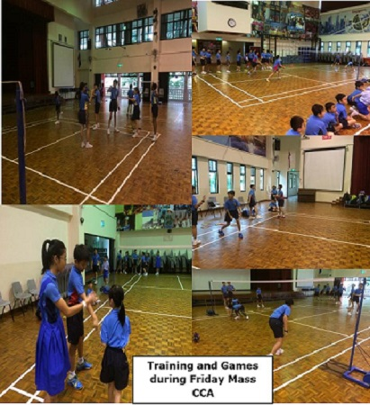Training and Games during Friday Mass CCA
