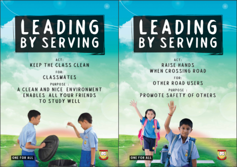 Student Leadership - Leading by Serving Poster 01-02