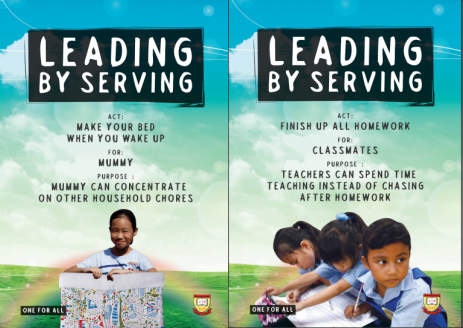 Student Leadership - Leading by Serving Poster 03-04