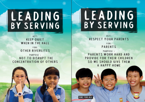 Student Leadership - Leading by Serving Poster 05-06